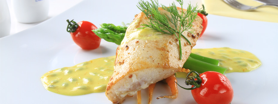 Pan Fried Swordfish Belly With Passion Fruit Buttter Sauce